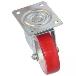100mm - Poly Tyre - Swivel Plate Castor